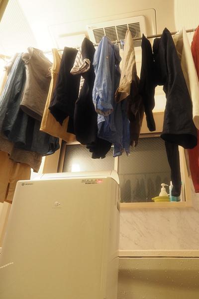 ↑我が家ではF-YHKX120を浴室に移動させて乾燥。とにかく素早く乾くのが気に入りました
