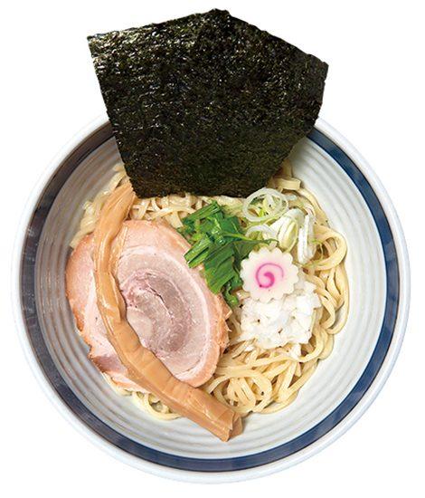 ↑つけそば(880円)。同店自慢の豚骨魚介スープの味がダイレクトに感じられる。三種のチーズまぜそば同様、オーダーできるのは14~22時までの間だけ