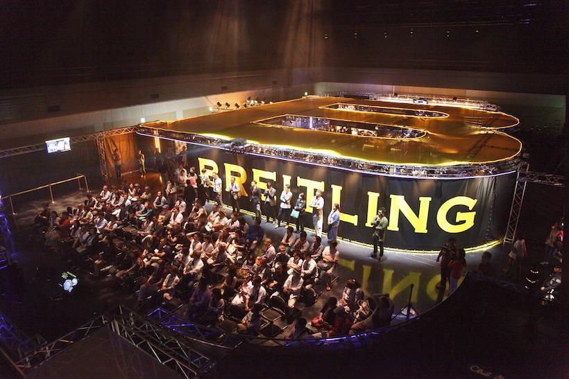 ↑ブライトリングオーナー向けの大イベント「ブライトリング メンバーズサロン」の大阪会場となった堂島リバーフォーラム