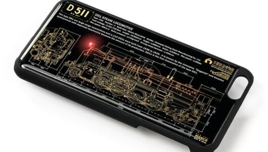 D51が光る! 鉄道ファン必見のiPhoneケースは光る基盤アート搭載で電池がなくても光る