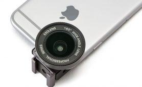 挟んでレンズを付けるだけ! iPhoneで本格的な写真が撮れる広角/望遠ガラスレンズ「ExoLensEdge」