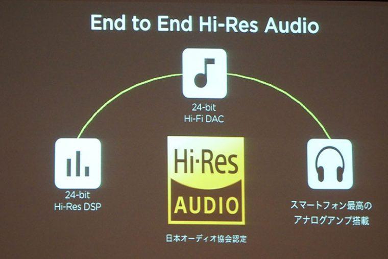 ↑日本オーディオ協会認定のハイレゾ基準に準拠