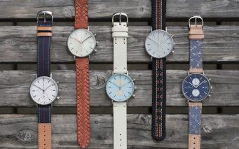 ↑ストラップは、自分の好みの仕様に変更可能。オンラインストアでは、「この時計におすすめのストラップ」という提案も
