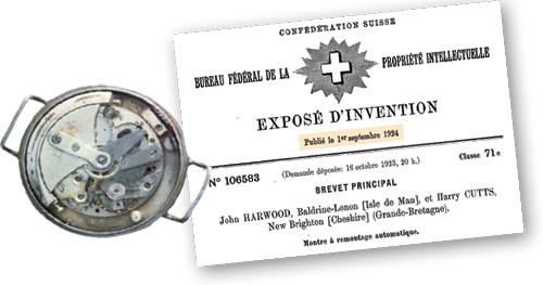 ↑自動巻き腕時計の機構は、時計師のジョン・ハーウッドが考案。1926年には、時計メーカーのフォルティスとともに世界初の量産化も実現されました