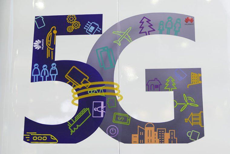 ↑通信キャリア各社が掲げるキーワードは「5G」
