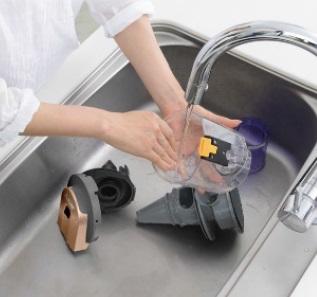 ↑サイクロンボックスは分解して水洗いできます