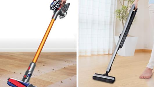【スティック掃除機4大モデル比較】細かい使い勝手が購入するときのキモ!