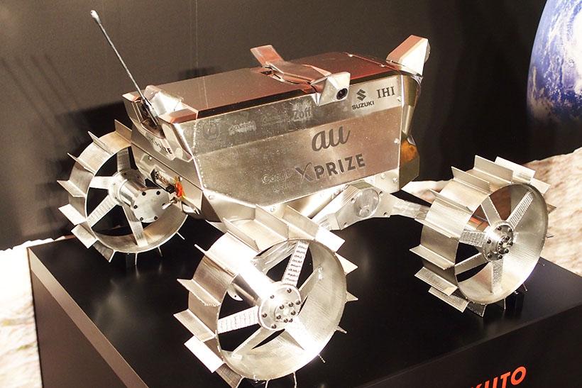 ↑HAKUTOのローバー。これが月面を走ります。
