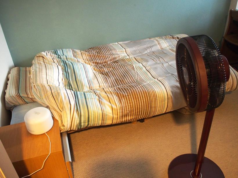 ↑「強」でも50.9dB(同)で、「静かな事務所」程度。こちらも就寝時でない限り、ほとんど気にならない