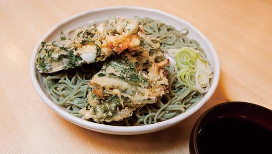 【昼は立ち食いそば】本場新潟の名物そばが味わえる「がんぎ 新川一丁目店」で緑のそばを堪能!