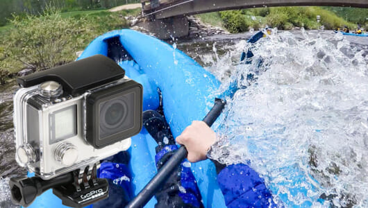 タフなシーンもばっちり撮れる! GoProをつけてアメリカの激流に挑む