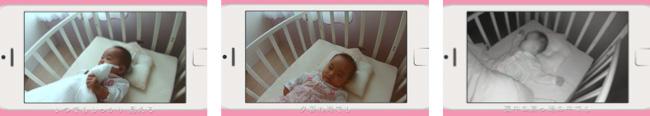 ↑赤ちゃんを見守るアプリ