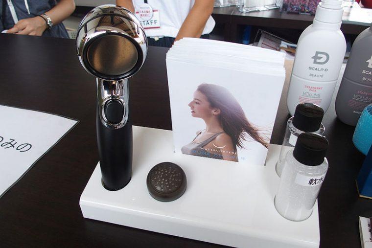 ↑女性用は軟水に変えるシャワーヘッドを使用