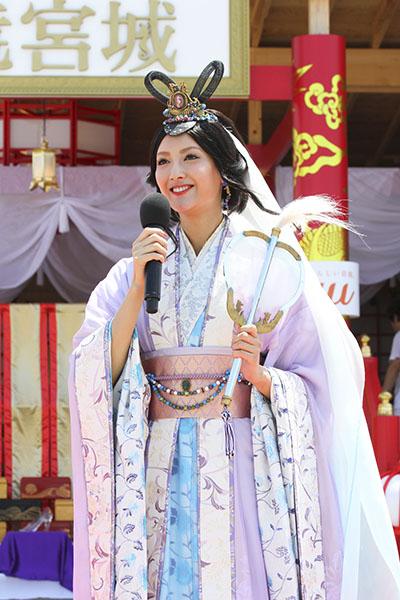 ↑7月18日のオープニングセレモニーには、乙姫役の菜々緒さんが登場