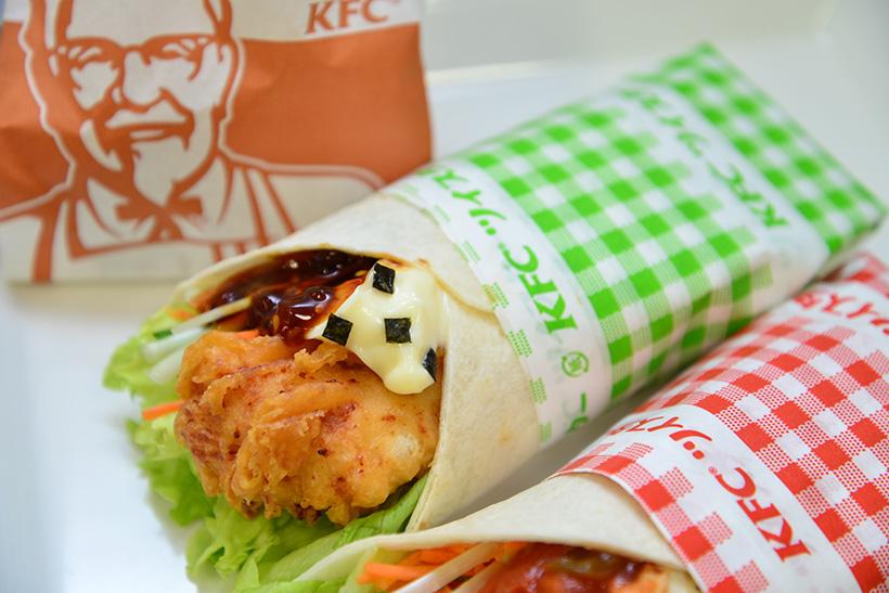 ↑野菜たっぷりツイスター てりやき 340円