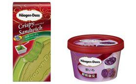 8月のハーゲンダッツ新作は緑と紫! クリスピーまでこだわった「抹茶フォンデュ」と往年の名作「紫いも」が登場