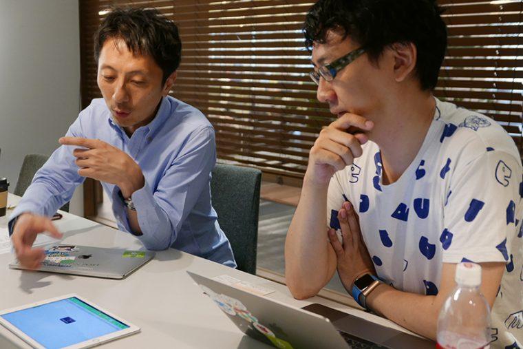 ↑オフラインでもビジネスが止まらないよう、アップデートし続けている、と語る中村氏(左)と取締役COO 吉田健吾氏(右)