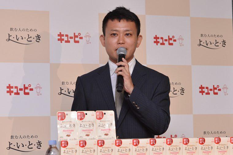 ↑社内公募で商品化を勝ち取った、プロジェクト担当者の奥山洋平さん。同社の研究開発本部で日夜実務にあたっています