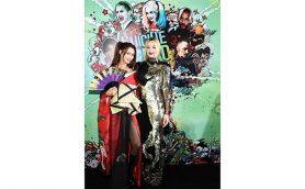 ダレノガレ明美が花魁姿でレッドカーペットに! 「スーサイド・スクワッド」Wプレミア