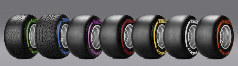 ↑13インチで幅の広いF1タイヤはさながら浮き輪のようなフォルム。このぶ厚いタイヤがサスペンションの機能も果たしている