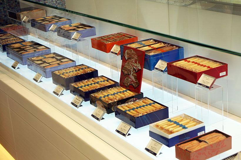 ↑ショップでは、ヨックモックを代表するお菓子「シガール」ももちろん購入可能