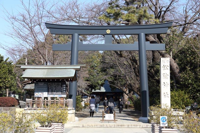 ↑幕末の思想家・吉田松陰らが祀られる松陰神社。学問の神として崇拝される