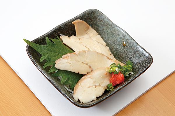 ↑まぐろの白子ポン酢(290円) しっかりした食感で独特の風味が◎