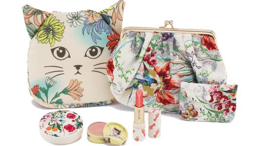 猫顔&花柄バッグが幻想的すぎる! ミステリアスな魅力を演出する「猫ちゃんコスメグッズ」4選