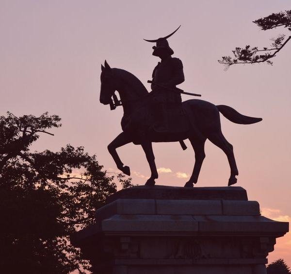 45054571 - the equestrian statue of date masamune