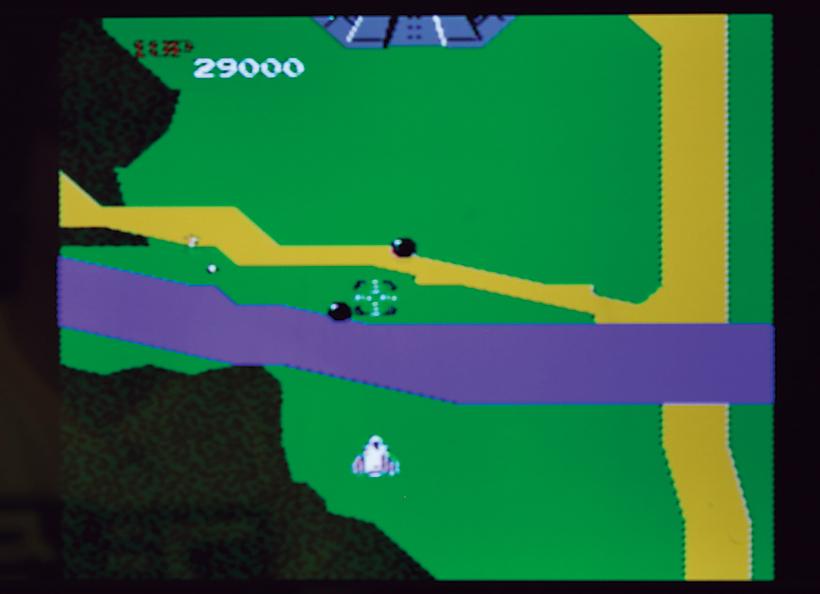 ↑黒い球体のような敵、ザカート。 近づくと弾を放って消滅する。10面の大型ザカート3連発は鬼門だ