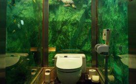 【衝撃トイレ4選】製作費2000万円超の水槽トイレ、トイレットペーパー過多のトイレって?