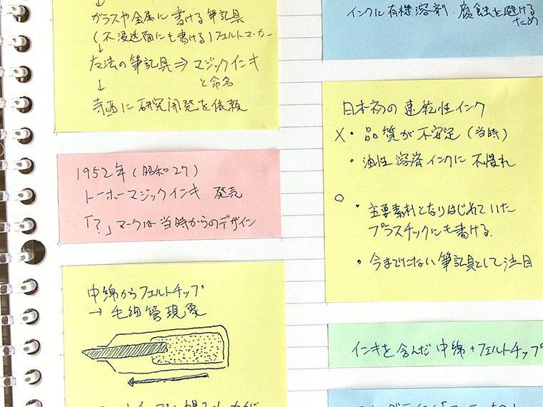 ↑スッキリ整理された紙面は見やすく、後からの編集もしやすい