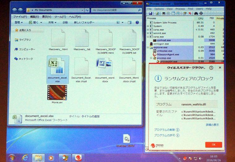 ↑怪しいファイルは数日間の監視を経てランサムウェアかどうかをチェック