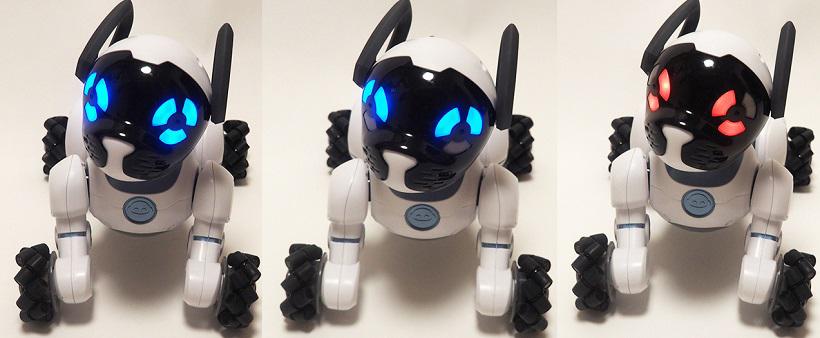 ↑普段はまん丸の瞳ですが頭をなでたり、褒めると「キューン」と喜び、手荒に扱うと怒って「ウウー」唸ります。とにかく表情豊かなので、ロボットとわかりつつも感情移入。怒っていると「どうしたの?」と声かけをしてしまいます
