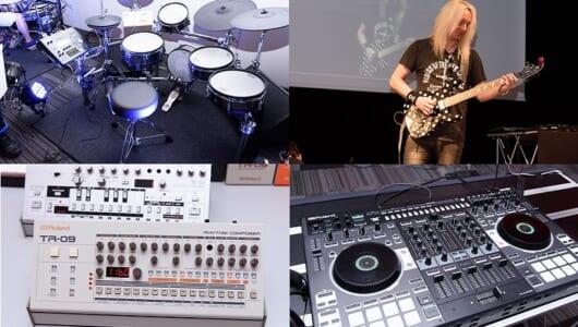 【動画】ギターキッズもDJ野郎も魅了する! ローランド新製品発表会は最新電子楽器のオンパレード!