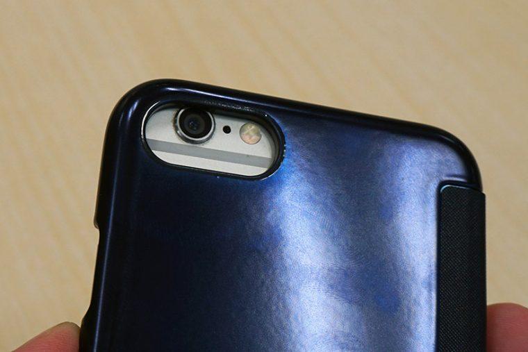 ↑iPhone 6にiPhone 7用ケースを装着したところ