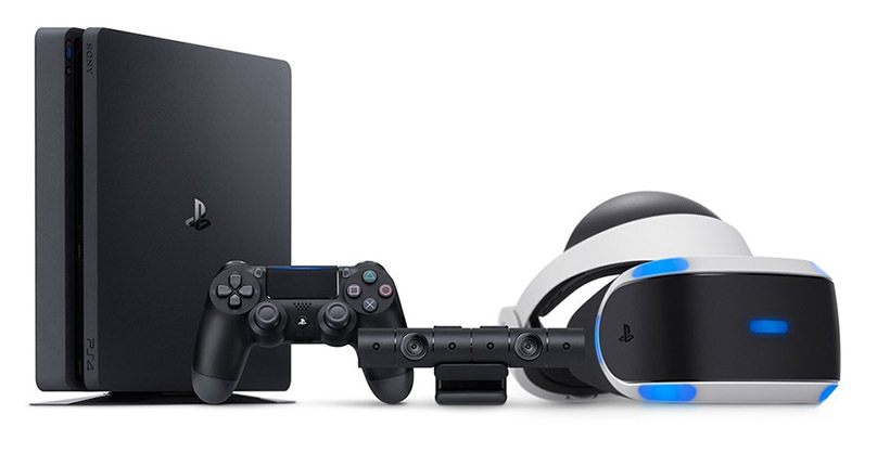 ↑PlayStation 4とPlayStation VR