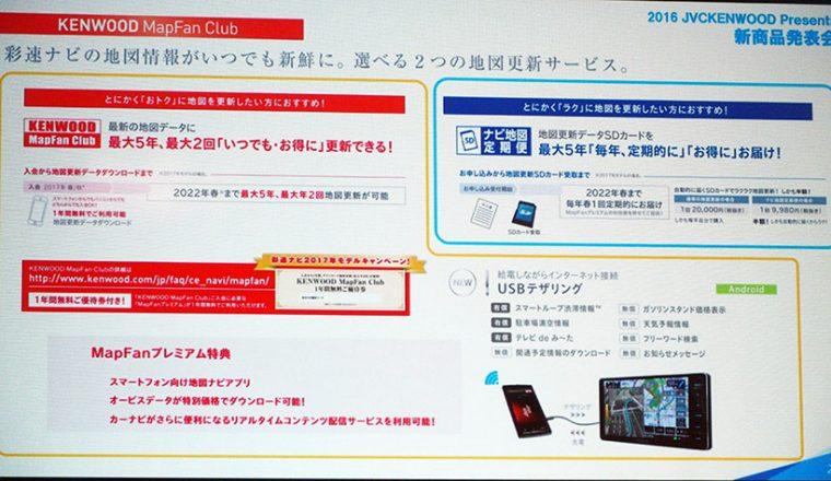 ↑彩速ナビの地図情報の更新方法にSDカードの交換やUSBテザリングなど、さまざまな方法を用意