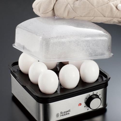 11蒸し器 ↑一気に8個もゆで卵が作れるエッグトレイも便利です