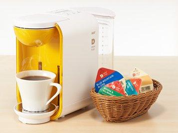 ↑カプセル型ポッドは20種類。最高品質のコーヒーから、オーガニック、紅茶まで多彩です