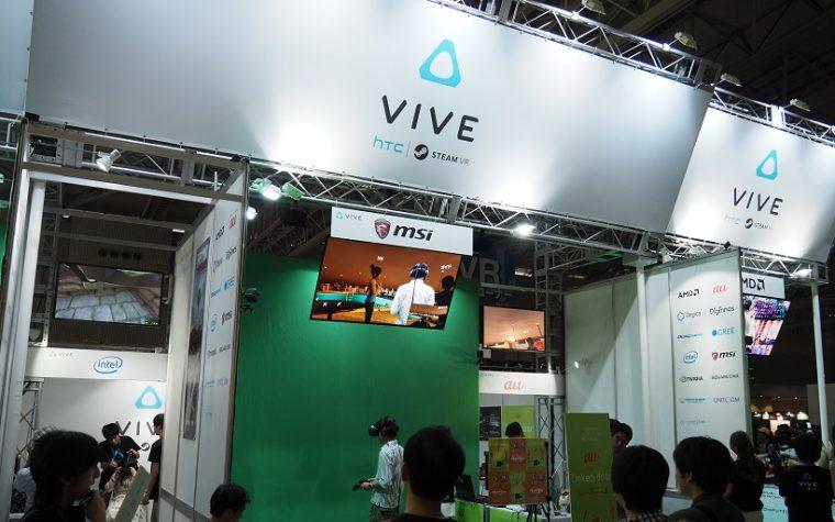 ↑HTC Viveのブース。VRコーナーではかなりの大きさで、さまざまなコンテンツを用意し、実力を見せつけていました