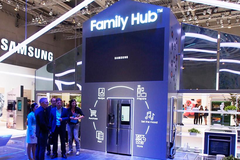 ↑サムスンのスマート冷蔵庫はすでにヨーロッパで発売中