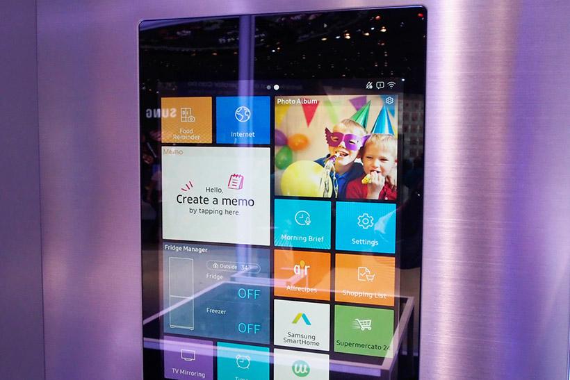 ↑Tizen OSで動き、スマートホーム機能やネット接続、スマートフォン連携が可能