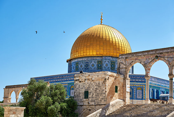 43681586 - dome of the rock. the most known mosque in jerusalem.