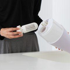 ↑抗菌カチオンAg+カートリッジ装着で、加湿器タンク内の雑菌の増殖を抑え