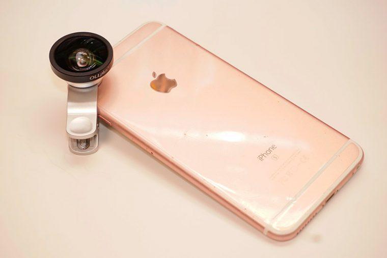 ↑iPhone 6s Plusに装着したところ