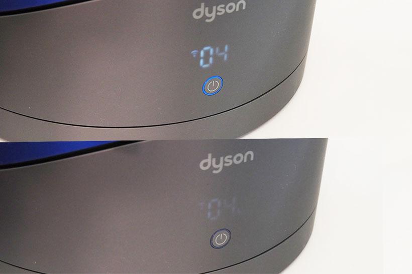 ↑上が通常時(上)、ナイトモード使用時(下)のLEDディスプレイの状態