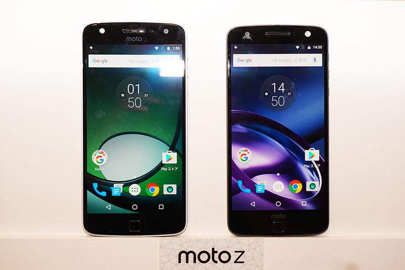 ↑Moto Z Play(左)とMoto Z(右)。液晶はどちらも5.5インチサイズ