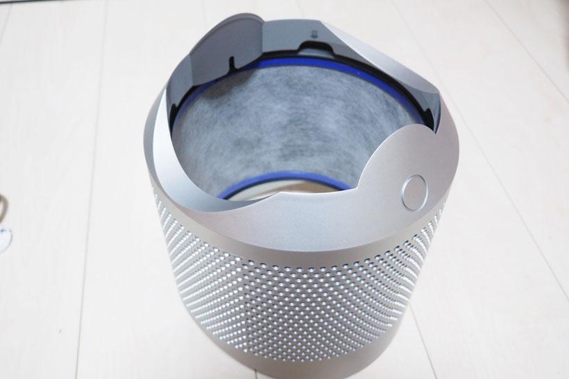 ↑PM0.1レベルの汚れも効率良く捕まえられるというダイソンの360°フィルター