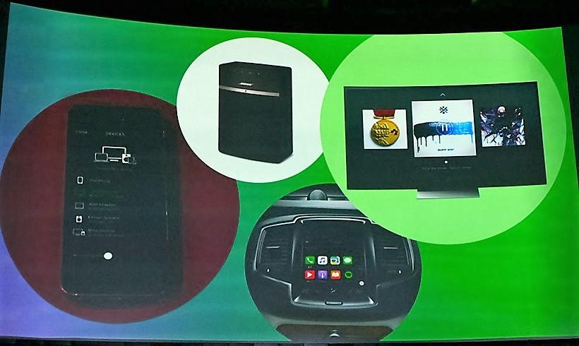 ↑プレミアムプランで「Spotify Connect」を利用すれば、手持ちのスピーカーやテレビ、車でもSpotifyを視聴可能となる